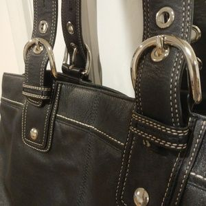 Coach handbag purse extra large black